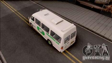 Mercedes-Benz Sprinter Renetur для GTA San Andreas вид сзади