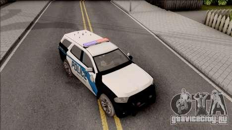 Dodge Durango 2011 Los Santos Police Department для GTA San Andreas вид справа