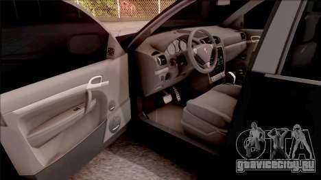 Porsche Cayenne Turbo S 2009 для GTA San Andreas вид изнутри