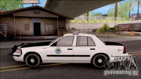 Ford Crown Victoria 2009 Des Moines PD для GTA San Andreas вид слева