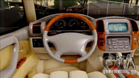 Toyota Land Cruiser 2005 для GTA San Andreas вид изнутри