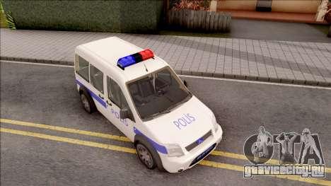 Ford Tourneo Connect 90PS Turkish Police для GTA San Andreas вид справа