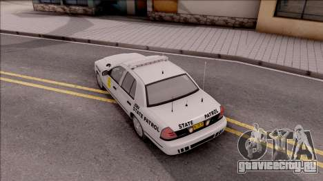 Ford Crown Victoria 2009 Iowa State Patrol для GTA San Andreas вид сзади