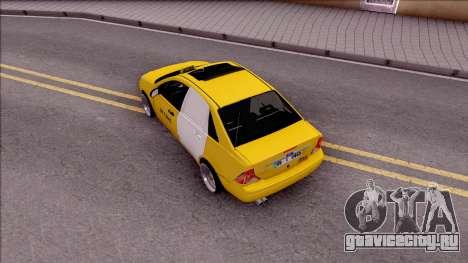 Ford Focus Mk1 Turkish Taxi для GTA San Andreas вид сзади
