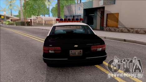 Chevrolet Caprice Police LSPD для GTA San Andreas вид сзади слева