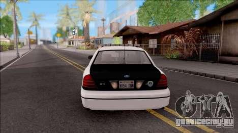 Ford Crown Victoria 2009 Des Moines PD для GTA San Andreas вид сзади слева
