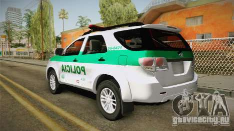 Toyota Fortuner Ponal Colombia для GTA San Andreas вид слева