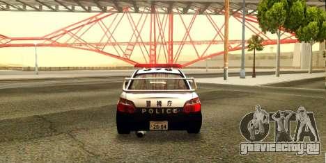 Subaru Impreza WRX STi 2004 Japanese Police для GTA San Andreas