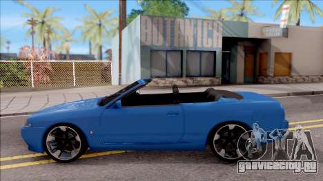 Nissan Skyline R32 Cabrio для GTA San Andreas вид слева