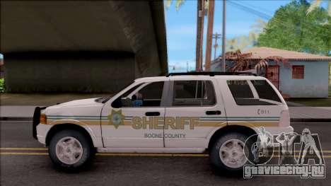 Ford Explorer 2002 Boone County Sheriff Office для GTA San Andreas вид слева