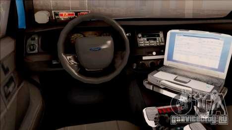 Ford Crown Victoria 2010 Iowa DOT MVE для GTA San Andreas вид изнутри