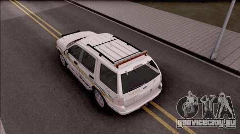 Ford Explorer 2002 Boone County Sheriff Office для GTA San Andreas вид сзади