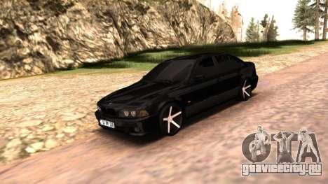 BMW E39 Armenian Vossen для GTA San Andreas вид справа