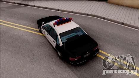 Chevrolet Caprice Police LSPD для GTA San Andreas вид сзади