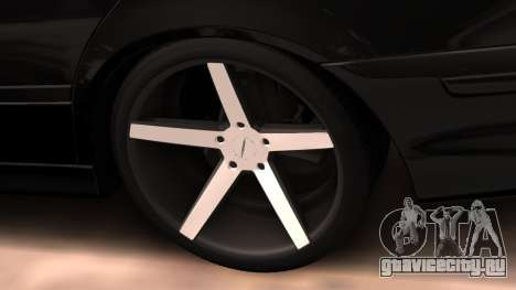 BMW E39 Armenian Vossen для GTA San Andreas вид изнутри