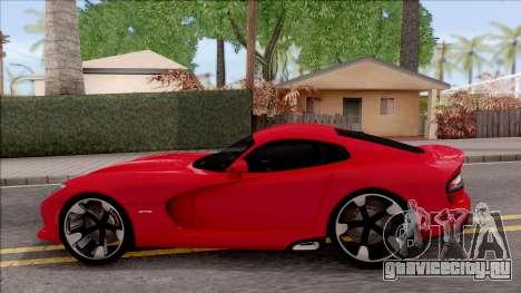 Dodge SRT Viper GTS 2012 для GTA San Andreas вид слева