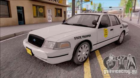 Ford Crown Victoria 2009 Iowa State Patrol для GTA San Andreas