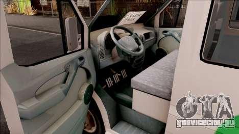 Mercedes-Benz Sprinter Renetur для GTA San Andreas вид изнутри