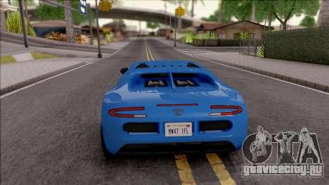 Truffade Adder для GTA San Andreas вид сзади слева