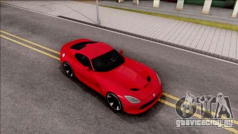 Dodge SRT Viper GTS 2012 для GTA San Andreas вид справа