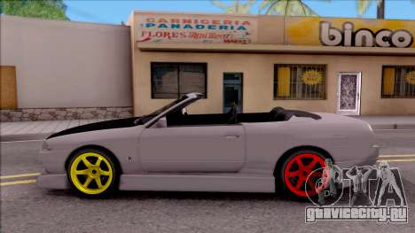Nissan Skyline R32 Cabrio Drift Monster Energy для GTA San Andreas вид слева