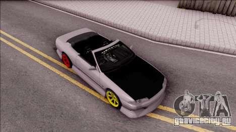 Nissan Skyline R32 Cabrio Drift Monster Energy для GTA San Andreas вид справа
