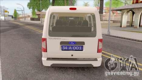 Ford Tourneo Connect 90PS Turkish Police для GTA San Andreas вид сзади слева