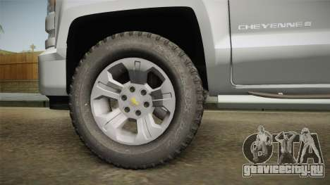Chevrolet Cheyenne LT 2016 для GTA San Andreas вид сзади
