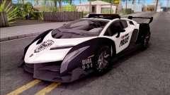 Lamborghini Veneno Police San Fierro для GTA San Andreas