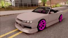 Nissan 200SX Cabrio Drift Monster Energy v2 для GTA San Andreas