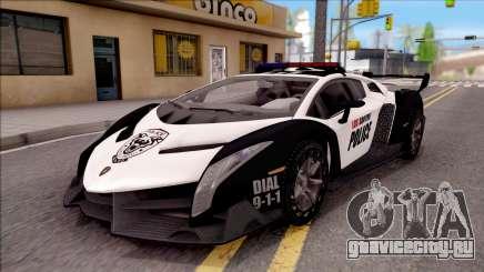 Lamborghini Veneno Police Los Santos для GTA San Andreas