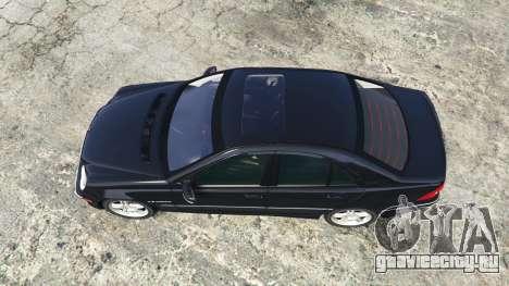 Mercedes-Benz C32 AMG (W203) 2004 [add-on] для GTA 5 вид сзади