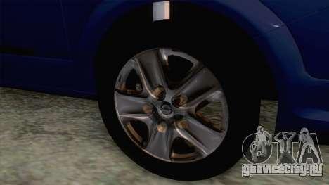 Opel Astra H для GTA San Andreas вид сзади