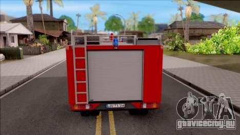 Mercedes-Benz 1222 LF 16/12 Feuerwehr для GTA San Andreas вид сзади слева