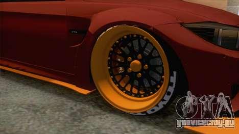 BMW M4 F82 GTS LB Performance 2015 для GTA San Andreas вид сзади