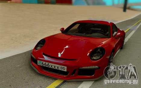 Porsche 911 R 2016 для GTA San Andreas вид слева
