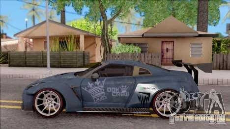 Nissan GT-R Nismo 2017 DDK для GTA San Andreas вид слева