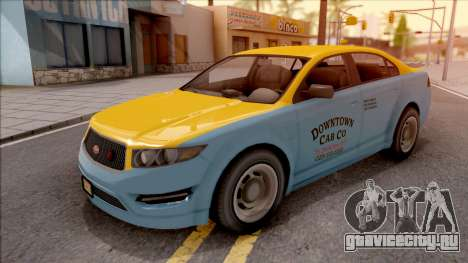 GTA V Vapid Unnamed Taxi для GTA San Andreas