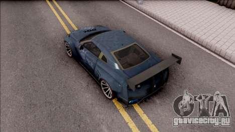 Nissan GT-R Nismo 2017 DDK для GTA San Andreas вид сзади
