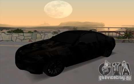 BMW M3 E92 GTR Black Camo для GTA San Andreas