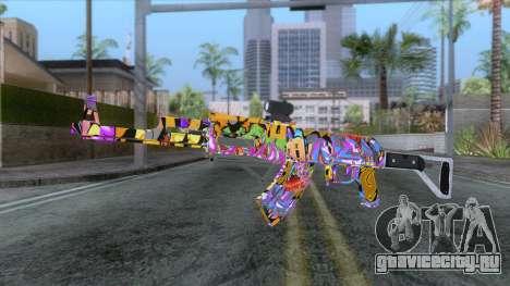 CoD: Black Ops II - AK-47 Graffiti Skin v1 для GTA San Andreas