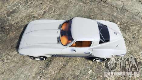 Chevrolet Corvette Sting Ray (C2) [replace] для GTA 5 вид сзади