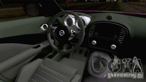 Nissan Juke Nismo RS 2014 для GTA San Andreas вид изнутри