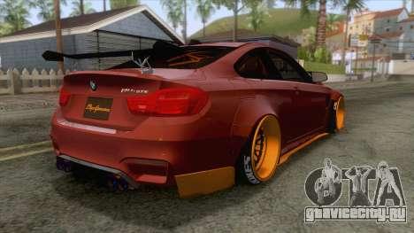BMW M4 F82 GTS LB Performance 2015 для GTA San Andreas вид справа