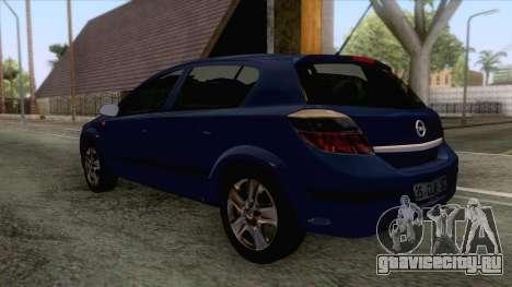 Opel Astra H для GTA San Andreas вид справа