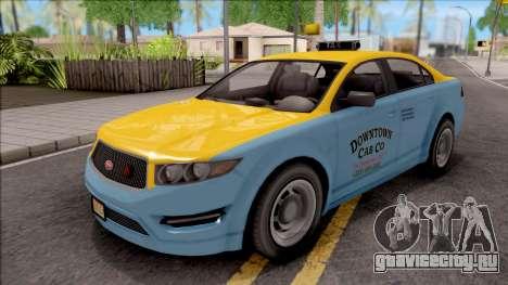 GTA V Vapid Unnamed Taxi IVF для GTA San Andreas