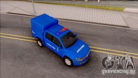 Volkswagen Amarok Turkish Gendarmerie Vehicle для GTA San Andreas вид справа