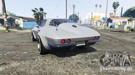 Chevrolet Corvette Sting Ray (C2) [replace] для GTA 5 вид сзади слева