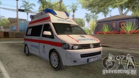 Volkswagen T5 Serbian Ambulance для GTA San Andreas
