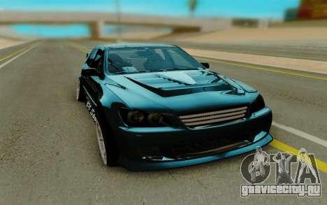 Toyota Altezza чёрный для GTA San Andreas